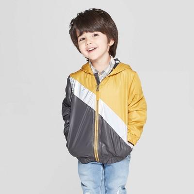 Genuine Kids® from OshKosh Toddler Boys' Metallic Colorblock Windbreaker Jacket - Yellow/Gray