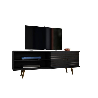 "62.99"" Liberty Mid Century Modern TV Stand with 2 Shelves and 2 Doors - Manhattan Comfort"