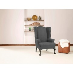Sure Fit Wing Chair Slipcover Swing Sale Stretch Twill Target