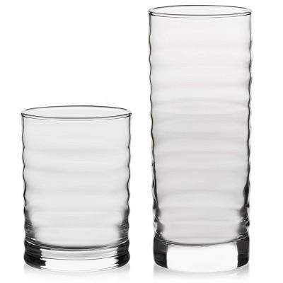 Libbey Pueblo Assorted 16pc Glass Cooler Set