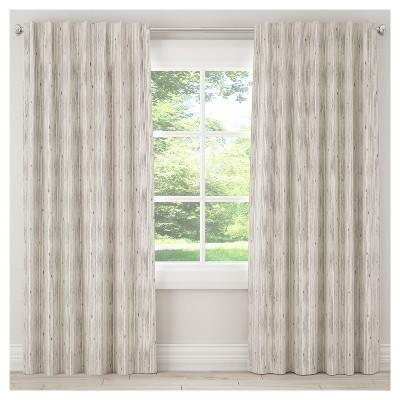 Unlined Shibori Stripe Blackout Curtain Panels
