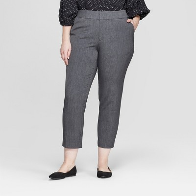 Women's Plus Size Slim Ankle Trouser Pants - Ava & Viv™
