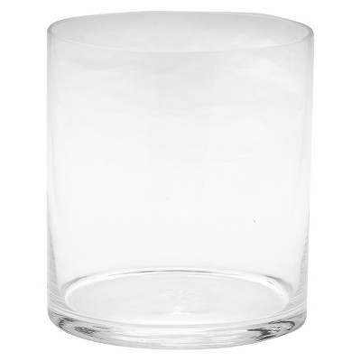 "Diamond Star Glass Cylinder Vase Clear (7.5""x7"")"