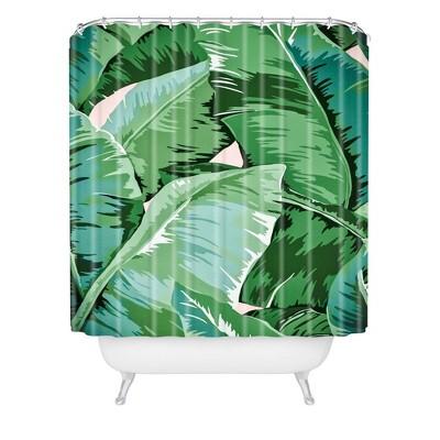 gale switzer banana leaf grandeur shower curtain green deny designs