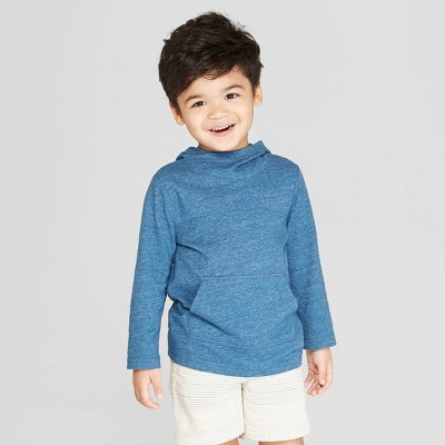 Toddler Boys' Long Sleeve Shawl Hoodie T-Shirt - Cat & Jack™ Blue