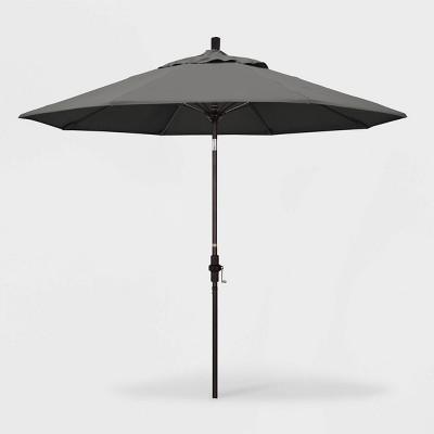 9 sun master patio umbrella collar tilt crank lift sunbrella charcoal california umbrella