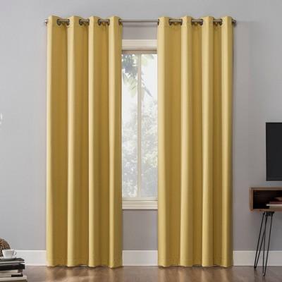 mustard yellow curtains target