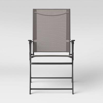 sling folding patio chair gray room essentials