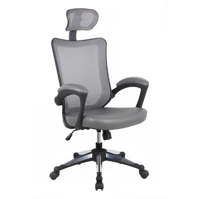 executive mesh office chair white chaise lounge cushions high back with headrest gray techni mobili
