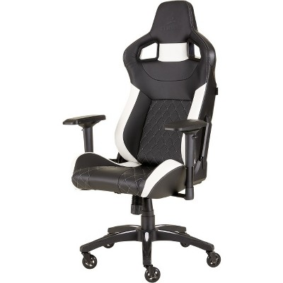 steel chair for office how to replace cane back with fabric corsair t1 race 2018 gaming black white game desk about this item