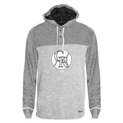 MLB Colorado Rockies Men's Clubhouse Tonal Henley Hoodie