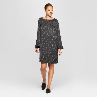 Women's Square Neck Wide Sleeve Shift Dress - Prologue™