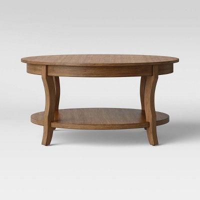 shelburne round coffee table natural threshold