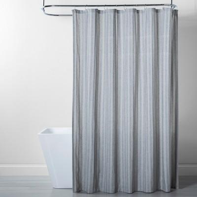 Herringbone Stripe Shower Curtain Gray - Threshold™