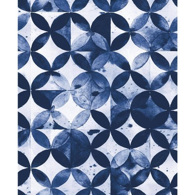 roommates paul brent moroccan tile peel and stick wallpaper blue