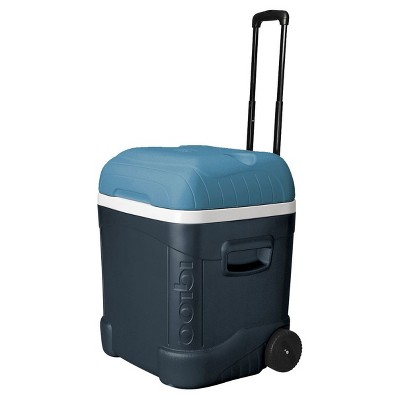 Igloo MaxCold Ice Cube 70qt Roller Cooler - Jet Carbon / Ice Blue