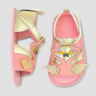 Baby Girls' Flamingo Ankle Strap Sandals - Cat & Jack™ Pink/Gold
