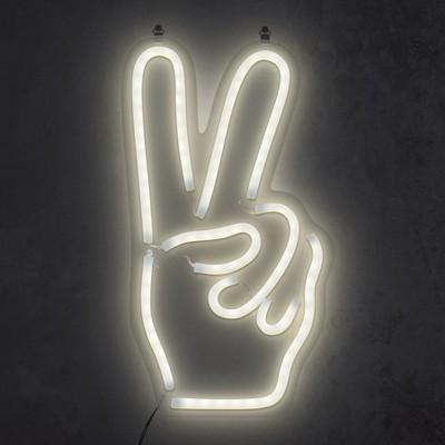 peace hand 16 neon