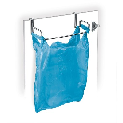 Lynk Professional Over Cabinet Door Organizer - Plastic Bag Holder Chrome