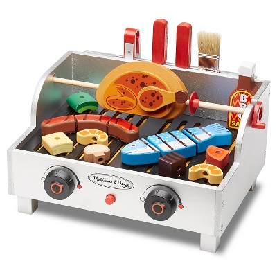 Melissa & Doug® Rotisserie and Grill Wooden Barbecue Play Food Set (24pc)