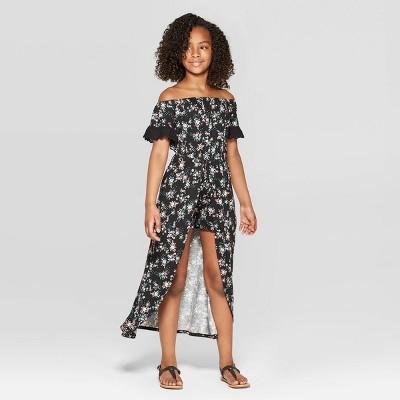 Girls' Off the Shoulder Walk-Through Maxi Dress - Art Class™