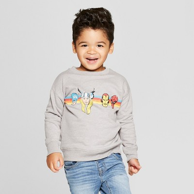 Toddler Boys' Marvel Long Sleeve Sweatshirt - Gray