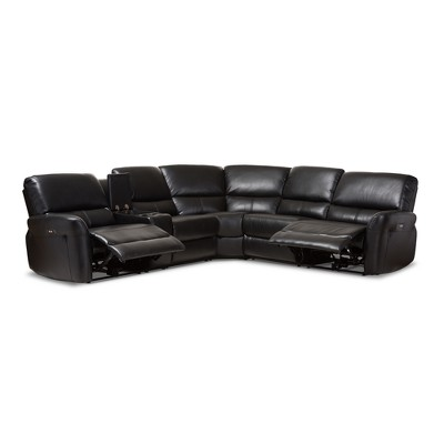 modern bonded leather sectional sofa with recliners ashley furniture alenya sleeper amaris and contemporary 5pc power reclining usb ports baxton studio target