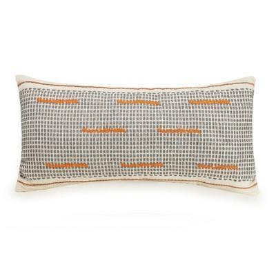 lumbar decorative throw pillow white orange gray ayesha curry