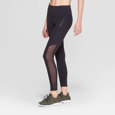 Women's Premium High-Waisted 7/8 Mesh Panel Leggings - JoyLab™