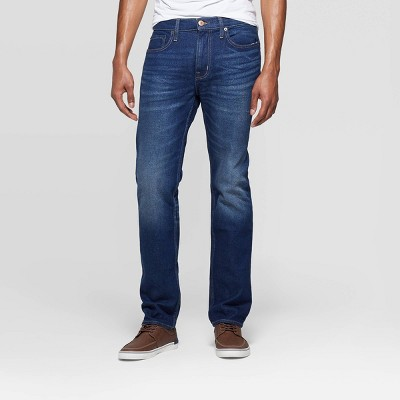 Men's Regular Slim Straight Fit Jeans - Goodfellow & Co™ Medium Blue