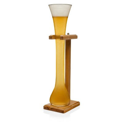 Libbey Craft Brew Half-Yard of Ale Glass 32oz with Wooden Stand