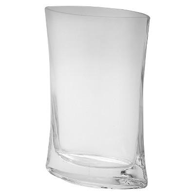 "9.5""x7"" Glass Curved Vase - Diamond Star"