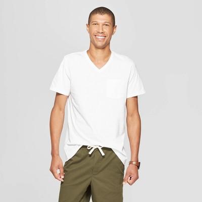 Men's Standard Fit Short Sleeve Elevated Ultra-Soft V-Neck T-Shirt - Goodfellow & Co™