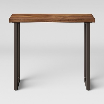 wooden sofa table legs simon li power reclining thorald wood top console with metal brown project 62 target