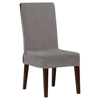 gray chair slipcover ikea glass table with 4 chairs mason short dining room sure fit target