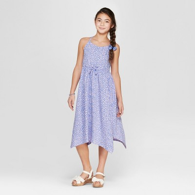 Girls' Floral Print Knit Maxi Dress - Cat & Jack™ Pink
