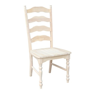 unfinished ladder back chairs revolving chair amazon set of 2 maine ladderback international concepts target