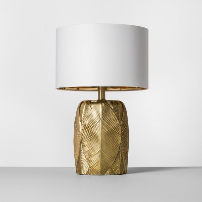 leaf table lamp gold