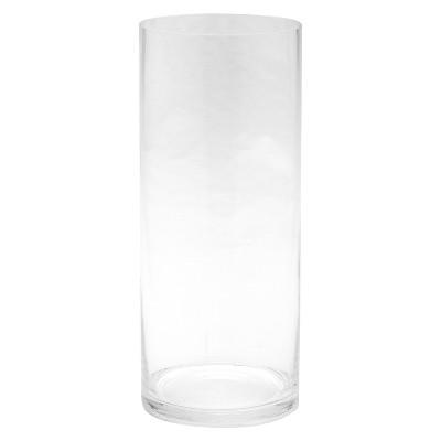 "Diamond Star Glass Cylinder Vase Clear (12""x5"")"