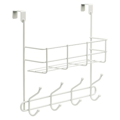 Over-The-Door Basket with Hook Rail White - Room Essentials™