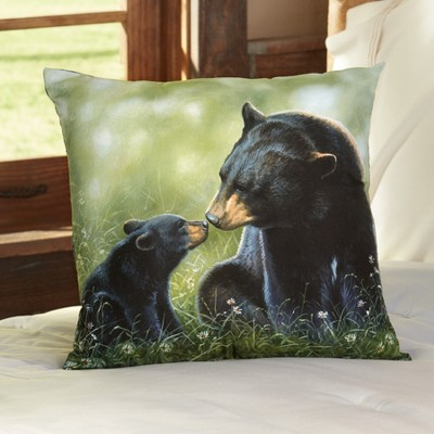 lakeside black bear throw pillow decor accent for couch with natural theme 16