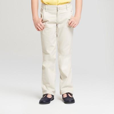 Girls' Bootcut Twill Uniform Chino Pants - Cat & Jack™