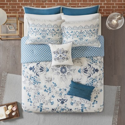 8pc Maeve Cotton Printed Reversible Comforter Set