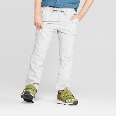 Toddler Boys' Linen Summer Pull-On Pants - Cat & Jack™ Gray