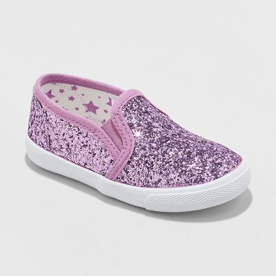 Toddler Girls' Madigan Glitter Slip On Sneakers - Cat & Jack™ Purple
