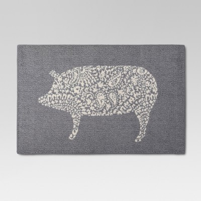 gray kitchen rugs 30 inch square table rug pig x46 threshold target
