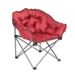 Padded Camping Chair Wingback And Ottoman Set Mac Sports Folding Outdoor Club With Carry Bag Wine Red Target