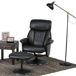 Euro Recliner Chair Design Milan Oxford Black Faux Air Leather Wyndenhall Target