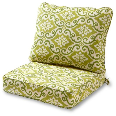 2pc shoreham ikat outdoor deep seat cushion set kensington garden