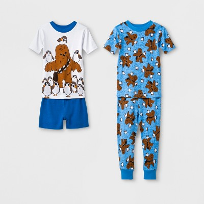 Toddler Boys' Star Wars 4pc Pajama Set - Blue